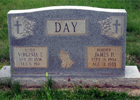 James and Virginia Day Tombstone